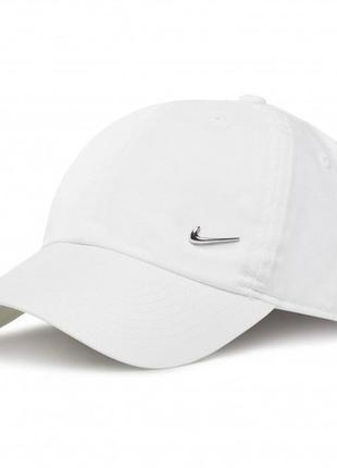 Кепка nike h86 cap metal swoosh white (943092-100)