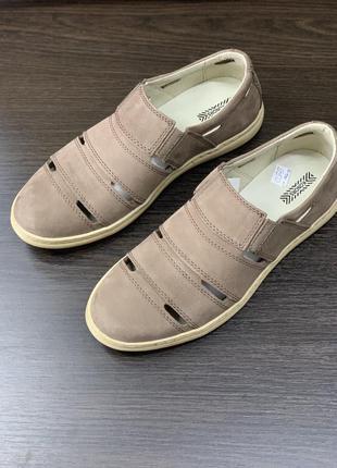 Туфли летние кожаные konors