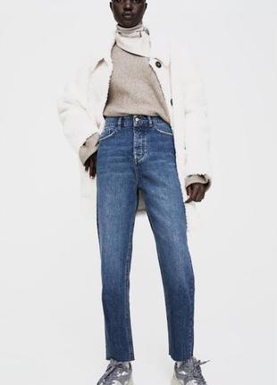 Zara прямые джинсы сигареты, мом, штаны, брюки дудочки