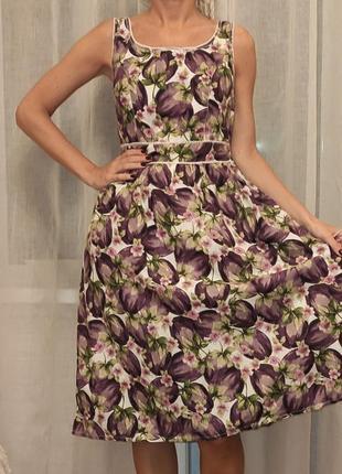 Платье со сливами 100% хлопок