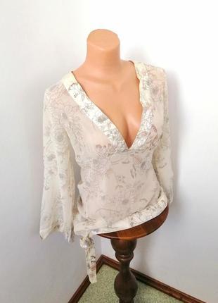 Шёлковая блуза для дома для сна 100% шёлк