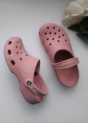 Crocs кроксы сандалии шлепанцы сланцы сабо пудровые розовыеженские