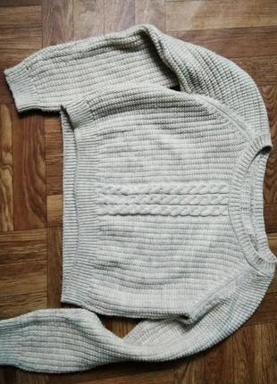 Укороченный свитер топ