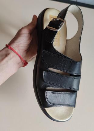 Стильные кожаные босоножки 41 ортопедические4 фото