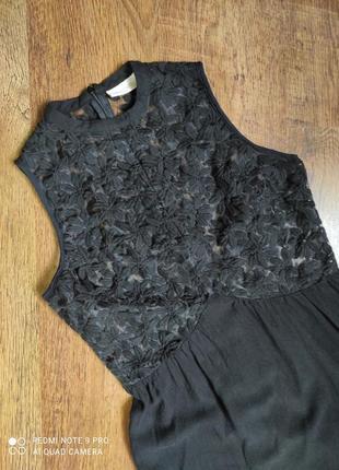 Rhythm чёрное платье, нарядное, вечернее, сукня, кружево