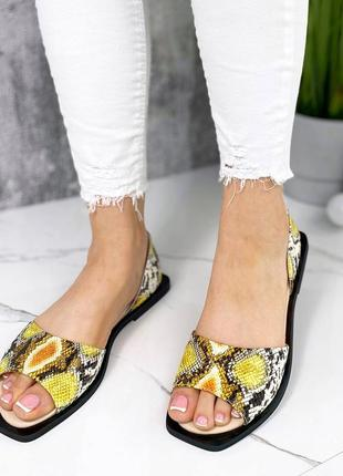 ❤️ шикарные кожаные туфли балетки рептилия питон
