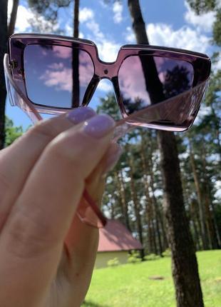 Очки солнцезащитные квадрат нюд прозрачные поляризация защита uv 4004 фото