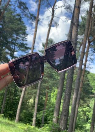 Очки солнцезащитные квадрат нюд прозрачные поляризация защита uv 4001 фото