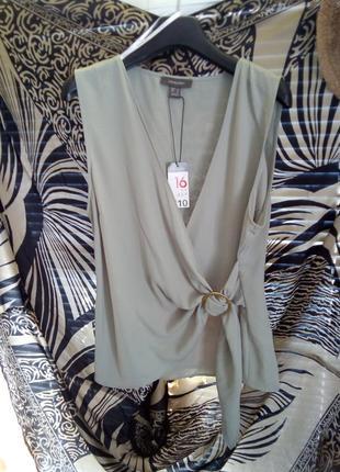 Primark блуза без рукавов на запах