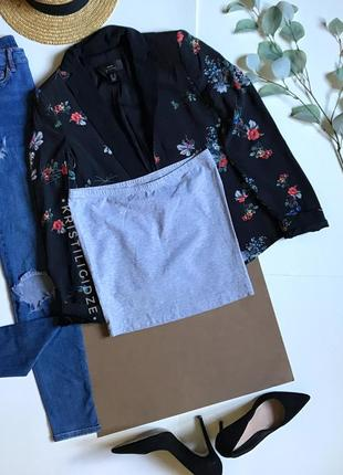 Серая мини юбка на резинке broadway