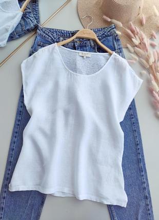 Льняная блуза, свободный крой, оверсайз