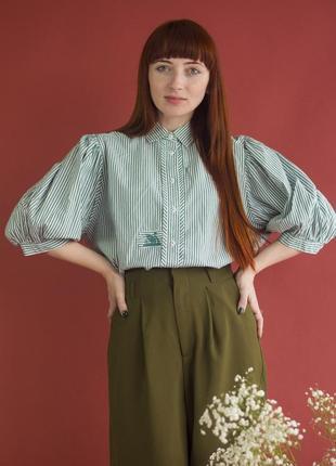 Рубашка в полоску с рукавами фонариками