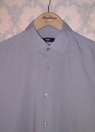 Мужская серая рубашка от hugo boss