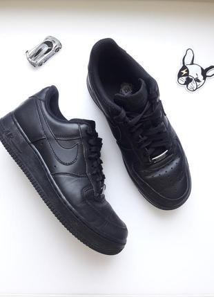 Кроссовки 👟  черные кожаные  от nike air force 1