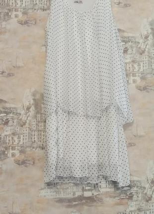 Итальянское шелковое платье в горошек