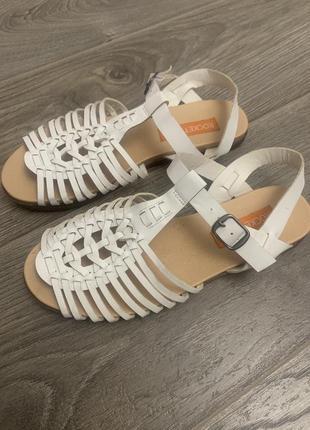 Белые сандали в греческом стиле босоножки размер 36-36,5