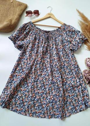 Легкая воздушная натуральная блуза рубашка yours size+