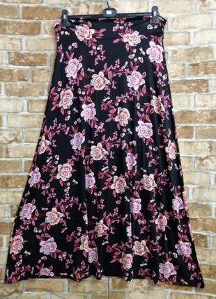 Длинная трикотажная юбка2 фото