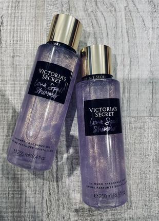 Парфюмированный спрей для тела с шимером от viktoria's secret