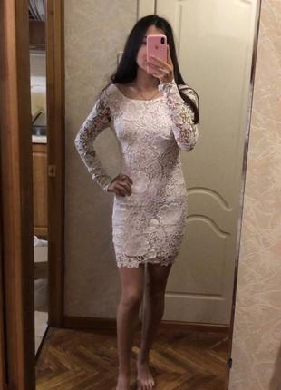 Платье в кружево с биркой xxs, xs