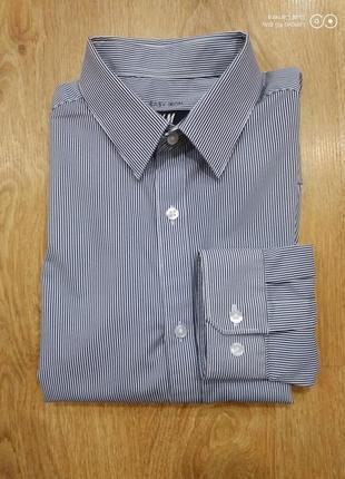Мужская рубашка-полосочка s-m- h&m- состояние новой..