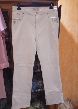 Белые джинсы брюки штаны прямые per una marks & spenser