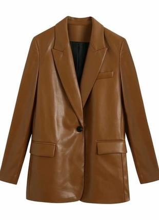 Пиджак женский, пиджак кожаный