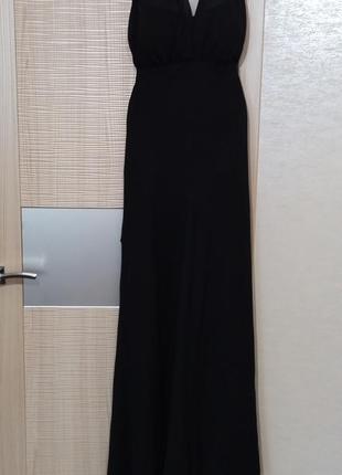Акция 1+1=3🤑🤩 шифоновое платье через шею длинное нарядное,вечернее с открытой спиной