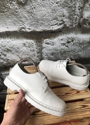 Ботинки туфли dr.martens 1461 white