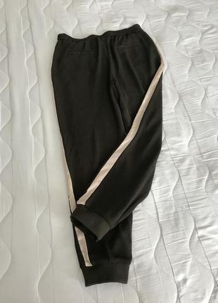 Легкие брюки с шелковыми лампасами s/m zara португалия 🇵🇹 оригинал