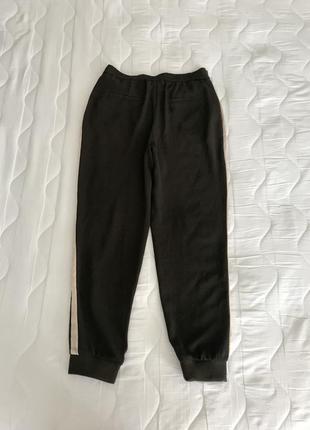 Легкие брюки с шелковыми лампасами s/m zara португалия 🇵🇹 оригинал3 фото