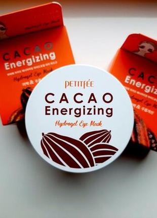 Гідрогелеві тонізуючі патчі під очі з екстрактом какао petitfee cacao energizing hydrogel eye patch