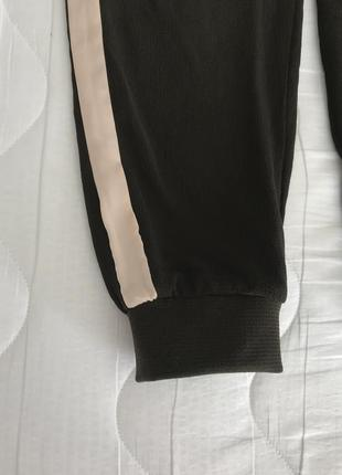 Легкие брюки с шелковыми лампасами s/m zara португалия 🇵🇹 оригинал5 фото