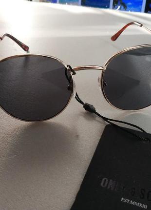 Солнцезащитные очки  панто  унисекс датского бренда only&sons европа оригинал5 фото