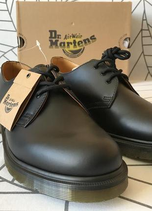 Dr. martens 1461 black smooth,  39eu, 7us