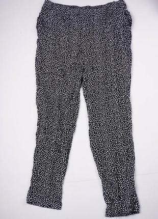 Стильные легкие брюки, лётные женские в горошек 16, xl, 44