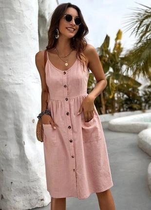 Топ 🌈 льняной женский сарафан платье