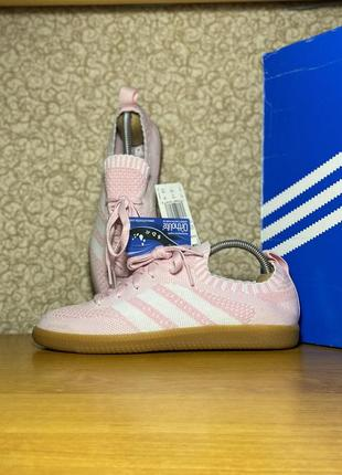 Тканевые летние кроссовки adidas samba sock primeknit оригинал размер 40