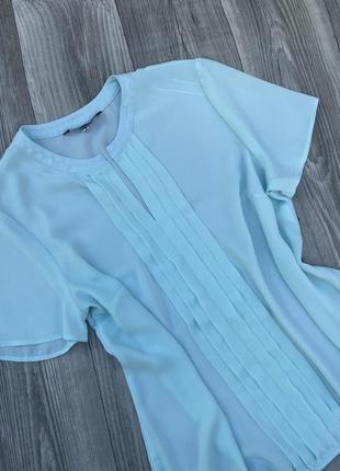 Шикарная мятная блуза со складками