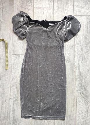 Стильное бархатное платье футляр