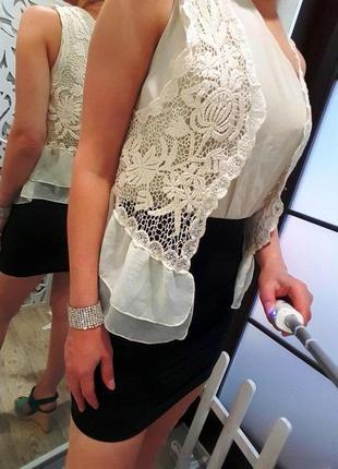 Платье женское с накидкой вечернее шампань айвори брендовое ажурное s asos zara