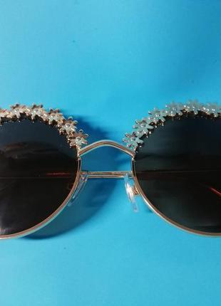😍стильные женские солнцезащитные очки с цветочным дизайном😍3 фото