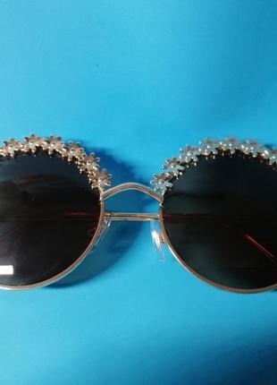 😍стильные женские солнцезащитные очки с цветочным дизайном😍4 фото