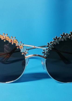 😍стильные женские солнцезащитные очки с цветочным дизайном😍5 фото