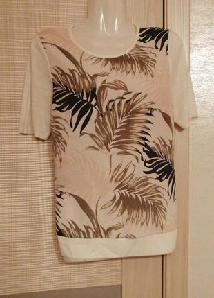 Акция 1+1=3🤑🤩стильная футболка в тропический принт