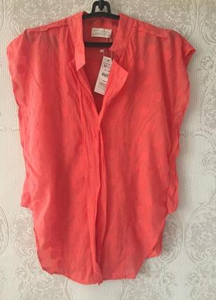 Zara летняя блуза 👚 на пуговицах