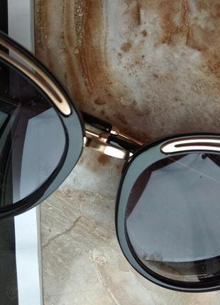 Очки солнцезащитные современная классика оправа кошечки4 фото