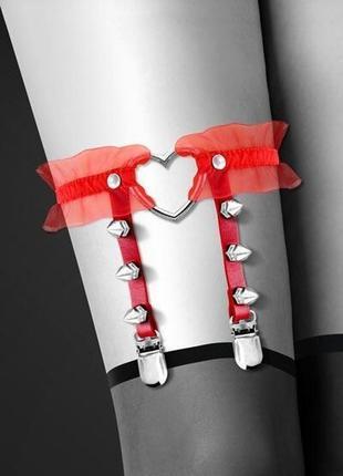 Гартер на ногу , сексуальная подвязка с сердечком-so2224
