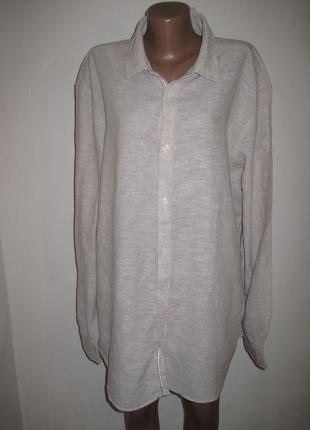 Льняная рубашка livergy р-р 2xl.