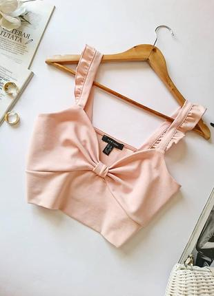 💔 ніжний кроп-топ/топ/блуза new look, на р. s/m 💔